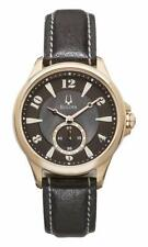 Bulova 97L113 Adventurer Rose Gold Tone Brown MOP Dial Womens Leather Band Watch