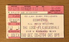 1994 BIOHAZARD THE EDGE FORT LAUDERDALE CONCERT TICKET STUB URBAN DISCIPLINE