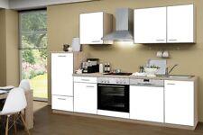 Küchenblock ohne Elektrogeräte Classic 280 cm in weiss matt mit Spüle