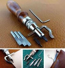 5in1 DIY Adjustable Leather Edge Stitching Groover Leathercraft Creaser Beveller