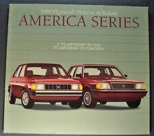 1989 Plymouth Horizon & Reliant Catalog Sales Brochure Excellent Original 89