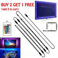 4 x 50CM PC TV LED Backlight USB 5050 RGB LED Strip Light 5V 30Leds/M Dec Home