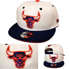 timeless design 7e90f 11742 New Era NBA Chicago Bulls White Snapback Hat Orange Blue 2Tone Classic Cap