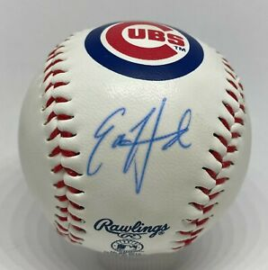 Ed Howard Signed Chicago Cubs Logo Baseball BAS WITNESSED Sticker ONLY Auction2