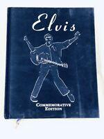 Elvis Commemorative Edition Blue Suede Hardcover Elvis Presley Book 1st edition