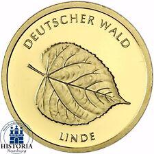 """Deutschland 20 Euro Gold """" Linde """" Deutscher Wald 2015 Münze  Stempelglanz Mzz F"""