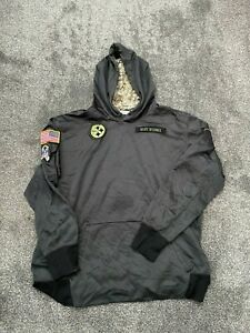 NIKE PITTSBURGH STEELERS SALUTE TO SERVICE HOODIE MEN'S GREY USED SIZE XL XXL