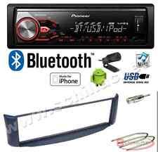 Pioneer MVH-390BT autoradio USB / bluetooth + Kit montaggio per Smart Fortwo bl