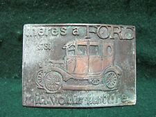 """""""THERES A FORD IN YOUR FUTURE"""" ADVERTISING CAR BELT BUCKLE"""