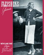 Fleisher's #44 c.1936 - Vintage Knitting Patterns for Women - Resort Fashions