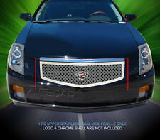 Stainless Steel Dual Mesh Grille Grill Upper For Cadillac CTS 2003-2007