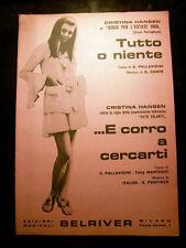 Libretto Cristina Hansen Tutto o niente Belriver Spartito Musicale Canzone