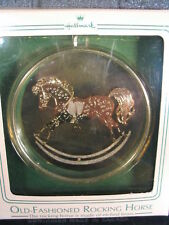 Hallmark Ornament 1984 OLD FASHIONED ROCKING HORSE Etched Brass mib