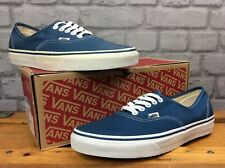 VANS MENS UK 8 EU 42 AUTHENTIC OFF THE WALL BLUE WHITE CANVAS TRAINERS