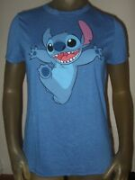 New Juniors XS-XL Blue Lilo And Stitch Disney Happy Space Alien Dog Disney Shirt