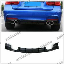 Black Bumper Diffuser Quad Tips For BMW F30 320i 325i 328i 335i M Sport AS
