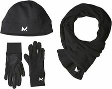 Mission Women's RadiantActive Beanie/Scarf/Glove Set, Black, Small/Medium