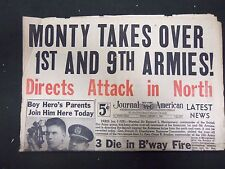 1945 JAN 5 NEW YORK JOURNAL AMERICAN - MONTY TAKES OVER 1ST & 9TH ARMIES-NP 2291