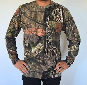 Mossy Oak Country Camouflage Hunting Fishing Camping Hiking Performance T-shirt