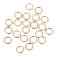 100 Strong ROSE GOLD Jump Rings Jewellery Making Findings 8mm x 1mm - lady-muck1