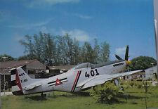 O Saffek North American P-51D Mustang Rebel Air Force, Havana, Cuba Postcard