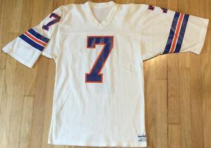 Vintage 90s John Elway #7 Denver Broncos jersey M white NFL Sand Knit football