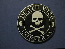 Death Wish Coffee logo 2.25 inch diameter pinback button