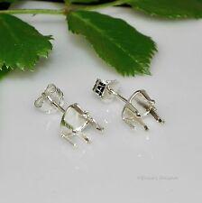 5mm Heart Snap Tite Sterling Silver Earring Settings