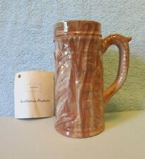 Vtg Emil Cahoy Embossed Swirled Pottery Mug Stein Colome SD Marblestone Products