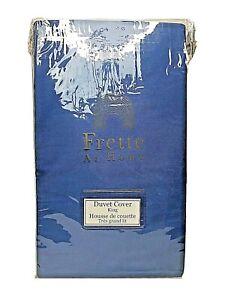Frette At Home Post Modern Duvet Cover Blue/White 100% Cotton King Portugal $450