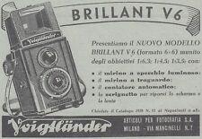 Y3963 Macchina fotografica Voigtlander BRILLANT V6 - Pubblicità - 1938 old ad