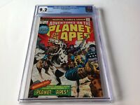 ADVENTURES ON THE PLANET OF THE APES 1 CGC 9.2 WHITE PGS BUCKLER MARVEL COMICS