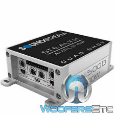 SOUNDSTREAM ST4.500D MOTORCYCLE 4 CHANNEL 500W COMPONENT SPEAKERS AMPLIFIER NEW