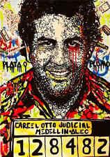 "Alec Monopoly Oil Painting on Canvas Urban art Wall Decor Pablo Escobar 28x40"""