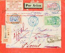 Senegal. Sobre Yv 66, 73. 1925. 75 cts gris y rosa, 10 cts verde y 2 fr naranja