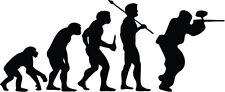 """PAINTBALL SHOOTER EVOLUTION Vinyl Decal Sticker-6"""" Wide White Color"""