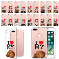 """For Apple iPhone 7/8 Plus 5.5"""" I Love My Dog Design Clear Tpu Case Phone Cover"""