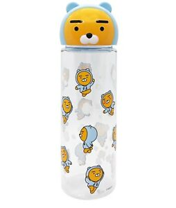 Kakao Friends Clear Bottle 17Oz. 500ml with Character Topper Ryan Apeach