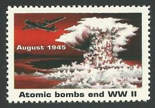 Atomic Bombs End WWII WW2 Hiroshima Japan Enola Gay Banned Rescinded Stamp MINT!