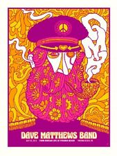 Dave Matthews Band Poster 2013 Virginia Beach Va Peacelove Numbered #/615 Rare!