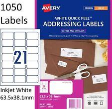 3 X Avery J8160 Inkjet Label 21 Per Page 50 Pack - 936047