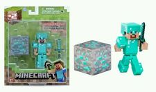 NEW Minecraft Series #2 Overworld STEVE with DIAMOND ARMOR Figure Good Gift SALE