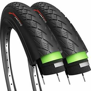 Pair of Fincci Hybrid Bike Bicycle Antipuncture Tyres Tires 700 X 35C