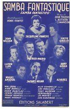 SAMBA FANTASTIQUE de Jacqueline FRANCOIS Yvette GIRAUD Parole Henri CONTET 1955