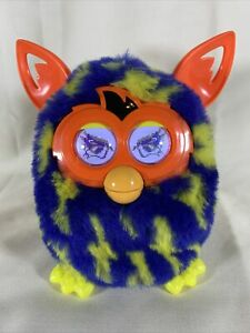 Hasbro 2012 Furby Boom Lightening BOLTS Blue Yellow Orange WORKS GREAT B2