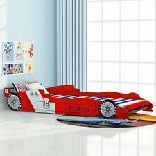 Lit Voiture de Course pour Enfants Chambre 90 x 200 cm Lit d'Enfant Rouge A7F0