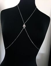 Star of David & Hamsa Body Chain--Stainless Steel Chain Vest/Harness/Belly Chain