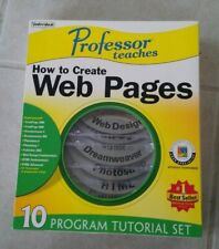 Professor Teaches How To Create Web Pages 10 CD Program Tutorial Set for PC NEW