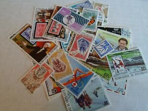 Collection lot 35 different stamps of Upper Volta (now Burkina Faso)
