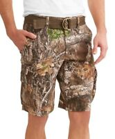 Men's George Stacked Camo Cargo Shorts and Belt Choose Your Size New With Tags